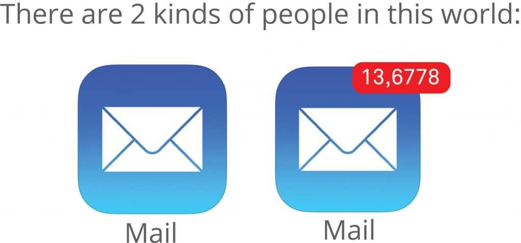 Empty vs Full Email Inbox - BELAY